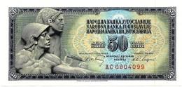 YUGOSLAVIA - 50 Dinara - 01/05/1968 - P 83.c - Sign. 7  - Unc. - Serie AC - 7 Digit Serial # With Security Thread - Yugoslavia