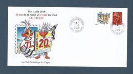 NOUVELLE CALEDONIE (New Caledonia)- Enveloppe événementielle Avec Timbre Personnalisé - 2018 - Club Le Cagou - Briefe U. Dokumente