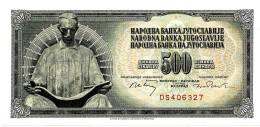 YUGOSLAVIA - 500 Dinara - 01/08/1970 - P 84.a - Sign. 8  - Unc. - Serie DS - 6 Digit Serial # Without Security Thread - Yugoslavia