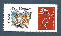 NOUVELLE CALEDONIE (New Caledonia)- RARE Timbre Personnalisé - 20ème Anniversaire De La Revue Le Cagou - 2018 - New Caledonia