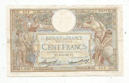 Billet , Cent Francs, 100 , 15-4-1937 , LUC OLIVIER MERSON , 2 Scans, Frais Fr 1.55 E - 1871-1952 Frühe Francs Des 20. Jh.