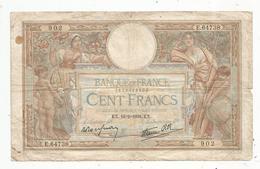 Billet , Cent Francs, 100 , 10-2-1939 , LUC OLIVIER MERSON , 2 Scans, Frais Fr 1.55 E - 1871-1952 Gedurende De XXste In Omloop