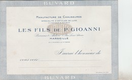 BUVARD MANUFACTURE DE CHAUSSURES LES FILS DE P. GIOANNI MARSEILLE -                            TDA269A - Shoes