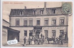 AMANWEILER- GRUSS AUS AMANWEILER- BELLE ANIMATION DEVANT L HOTEL-RESTAURANT - France