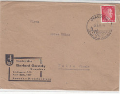 Brief Von Einem Ingenieurbüro Aus GRAUDENZ 28.1.44 SST - Briefe U. Dokumente