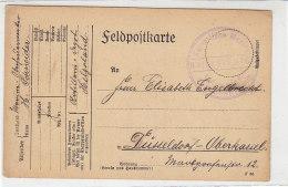 Feldpostkarte Vom Art.Rgt. HELGOLAND 2.1.16 Nach Düsseldorf-Oberkassel - Germany