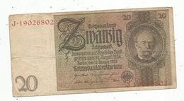 Billet , Allemagne, Reichsbanknote, 20 Reichsmark , Zwanzig , 1929,  2 Scans - [ 3] 1918-1933: Weimarrepubliek