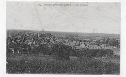 (RECTO / VERSO) CHATILLON SUR LOIRE EN 1919 - N° 174 - VUE GENERALE - CPA VOYAGEE - Chatillon Sur Loire
