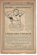 Pub 1908 L'ELECTRO-VIGUEUR Du Dr MACLAUGHLIN   (originale De 1908) - Publicités