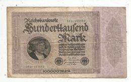 Billet , ALLEMAGNE , Reichsbanknote , 1923 , 100000 MARK, 2 Scans , Frais Fr 1.45 E - [ 3] 1918-1933 : República De Weimar