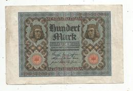 Billet , ALLEMAGNE , Reichsbanknote , 1920 , 100 MARK, 2 Scans , Frais Fr 1.45 E - [ 3] 1918-1933 : República De Weimar