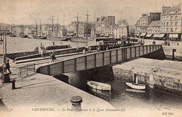 CPA CHERBOURG - LE PONT-TOURNANT ET LE QUAI ALEXANDRE III - Cherbourg