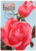 CARTE MAXIMUM FRANCE 1963 / 44 NANTES  = CACHET FDC PREMIER JOUR N° 1369 'FLORALIES INTERNATIONALES' Thème = FLEUR - 1960-69
