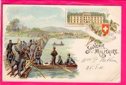 Cpa Carte Postale Ancienne  -  Militaire - Suisse Souvenir Militaire - Militari