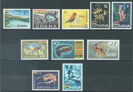 GHANA  - 1967 - MNH/** -  OVERPRINT -  Yv 266-273 PA 11-12  - Lot 17083 - Ghana (1957-...)