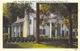 ETATS UNIS   SOUTH CAROLINA  CLEMSON  FORT HILL, HOME OF JOHN C.CALHOUN, CLEMSON COLLEGE - Etats-Unis