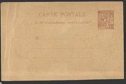 Entier Postal De MONACO Albert 1er  Plis Latéraux - Autres
