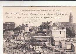Cp , 22 , SAINT-QUAI-PORTRIEUX , Le Casino Et La Plage - Saint-Quay-Portrieux