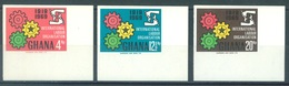 GHANA  - 1969 - MNH/** - NON DENTELE -  Yv 363-365  - Lot 17084 - Ghana (1957-...)