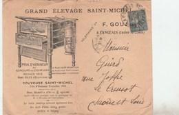SEMEUSE 15C SUR ENV ILLUSTREE ELEVAGE SAINT MICHEL GOUJON LANGEAIS 5/1/20 POUR LE CREUSOT -                      TDA269A - Postmark Collection (Covers)