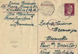 PRIGIONIERO LAVORATORE WERKLAGER KIRCHHEIM GERMANY 1944 X BESENELLO - 1900-44 Victor Emmanuel III