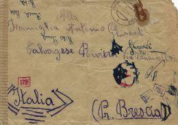 PRIGIONIERO LAVORATORE WERKLAGER PURBACH A NEUSIEDLER SEE AUSTRIA 1944 CALVAGESE - 1900-44 Victor Emmanuel III