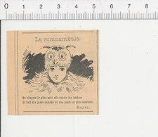 Humour De 1898 La Somnambule Poésie De Racine Littérature Bonnet De Nuit ? Hibou Oiseau 51C22 - Alte Papiere