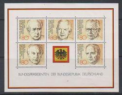 Germany 1982 Bundespräsidenten M/s ** Mnh (39066) - [7] West-Duitsland