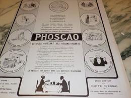 ANCIENNE PUBLICITE CHOCOLAT PHOSCAO   1915 - Posters