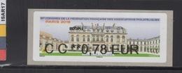 ATM-LISA : NABANCO  ECOPLI 0.78 €  - ELYSEE- PARIS 7-10 Juin 2018 - 2010-... Vignettes Illustrées