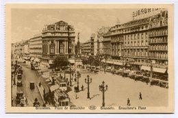 CPA - Carte Postale - Belgique - Bruxelles - Place De Brouckère (CP3582) - Marktpleinen, Pleinen