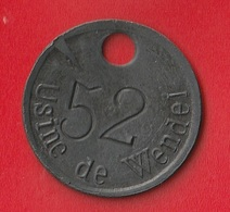 """JETON D'ATELIER """" USINE DE WENDEL - FENDERIE """" - Professionals / Firms"""