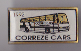 PIN'S THEME TRANSPORT BUS  CORREZE  CARS  1992 - Transportation