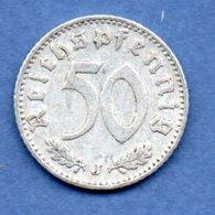 Allemagne  -  50 Reichpfennig 1939 J  - Km # 96  - état TTB - [ 4] 1933-1945 : Third Reich