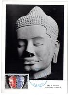 CARTE MAXIMUM FRANCE 1961 / PARIS  = CACHET FDC PREMIER JOUR N° 25 / SERVICE ' UNESCO / Bouddhah ' - 1960-69