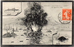 """Catastrophe De La """"Liberté"""" 25 Septembre 1911 En Rade De TOULON - Photo Avant Et Après - Texte Interessant    (106610) - Oorlog"""