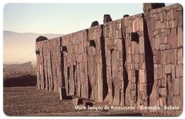 Bolivia Entel - BO-ENTEL-035 - Muro Templo De Kalasasaya, Tiwanaku (MINT) - Bolivia