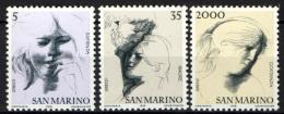 SAN MARINO - 1978 - LE VIRTU' CIVILI - 3^ SERIE (SAPIENZA,AMORE,COSTANZA) -  MNH - Nuevos