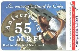 Cuba Etecsa - CU-UR-036 55 Aniversario De CMBF Radio (MINT) - Cuba