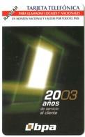 Cuba Etecsa - CU-UR-038 20 Años De Servicio Al Cliente (MINT) - Cuba