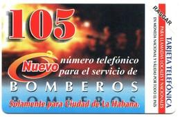 Cuba Etecsa - CU-UR-039 Bomberos 105 (MINT) - Cuba