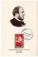 CARTE MAXIMUM FRANCE 1952 / PARIS   = CACHET  FDC  PREMIER JOUR N° 934 ' HAUSSMANN ' - 1950-59