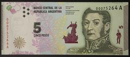 Argentina 5 Pesos Josè De San Martin Pick Newr UNC #B371 - Argentina