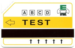 """Urmet Test For Argentina And Others Countries - 5417A C&C Test Yellow - """"Urmet Patent"""" (Large Magnetic Band) MINT - Argentina"""