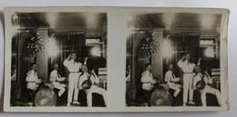 Photo Stéréoscopique Originale Strasbourg 1924 Cabaret Des Quat'z'arts Musicien Banjo Orchestre - Photos Stéréoscopiques