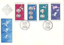 BULGARIA  / Bulgarie   1969  SPACE - SOJUS   4v.- FDC - FDC & Commemoratives