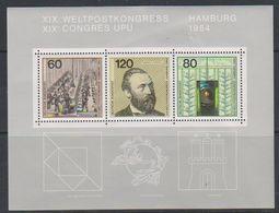 Germany 1984 Congrès UPU Hamburg  M/s ** Mnh  (39073) - [7] West-Duitsland