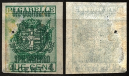 1918 - Austria Hungary KUK K.u.K Feldpost - Ortspostmarke - SPILIMBERGO - 4 C. - SASSONE 60 - DAMAGES - 8. Besetzung 1. WK