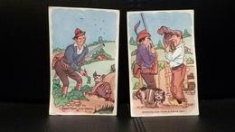 LOT DE 2 CARTES POSTALES HUMORISTIQUES SUR LE THÈME DE LA CHASSE - Illustrateurs & Photographes