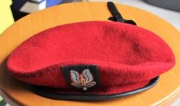 Beret WHO DARES WINS British Military Beret Hat WW2 SAS Red Burgandy Cap - Cascos